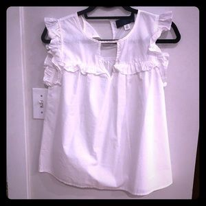 White summer top from Francesca's XS